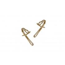 Brass Curtain Hooks Pk20 - Brass