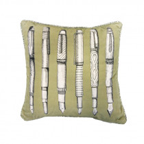 Voyage Maison Fountain Pens 43 x 43cm Cushion - Celery