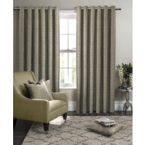 Clarke And Clarke Campello Eyelet Curtains - Olive