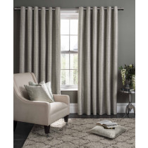 Clarke And Clarke Campello Eyelet Curtains - Putty