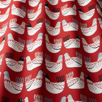 iLiv Cluck Cluck PVC Fabric - Scarlet