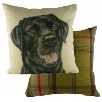Waggydogz Black Labrador Cushion
