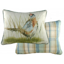 Piped Country Pheasant Cushion