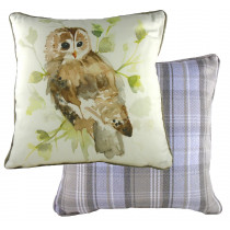 Piped Country Owl Cushion