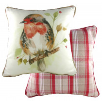 Piped Country Robin Cushion