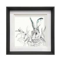 Voyage Maison Hare 47 x 47cm Framed Artwork - Ebony