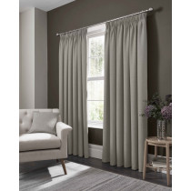 Clarke And Clarke Elba Pencil Pleat Curtains - Feather
