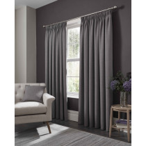 Clarke And Clarke Elba Pencil Pleat Curtains - Grey