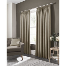 Clarke And Clarke Elba Pencil Pleat Curtains - Linen