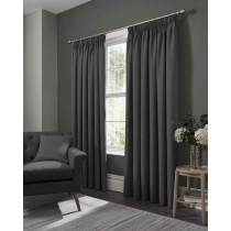 Clarke And Clarke Elba Pencil Pleat Curtains - Steel