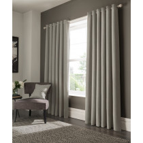 Clarke And Clarke Elba Eyelet Curtains - Feather