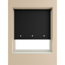 Eyelet Roller Blind 190cm Drop - Black