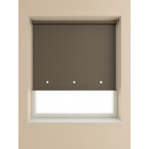 Eyelet Roller Blind 190cm Drop - Chocolate
