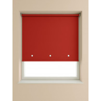 Eyelet Roller Blind 190cm Drop - Deep Red