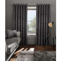 Clarke And Clarke Naples Eyelet Curtains - Smoke