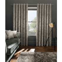 Clarke And Clarke Naples Eyelet Curtains - Stone