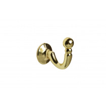 Palma Tie Back Hooks Pk 2  - Birght Brass