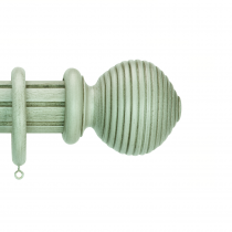 50mm Duet Pole Set Complete with Beehive Finials - Chateau Grey