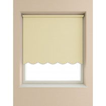 Scalloped Roller Blind 160cm Drop - Cream