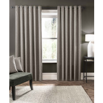 Clarke And Clarke Verona Eyelet Curtains - Putty