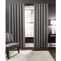 Clarke And Clarke Verona Eyelet Curtains - Smoke
