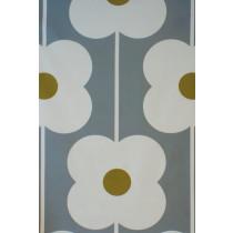 Orla Kiely Abacus Flower Fabric - Olive
