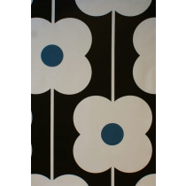 Orla Kiely Abacus Flower Fabric - Powder Blue