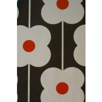 Orla Kiely Abacus Flower Fabric - Tomato