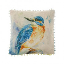 Voyage Maison Darting Kingfisher Cushion - Linen