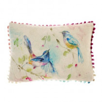Voyage Maison Dancing Birds Cushion - Linen