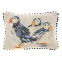 Voyage Maison Puffins Cushion - Linen
