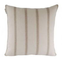 Ian Mankin Angus Stripe 40 x 40cm Cushion - Flax