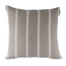 Ian Mankin Angus Stripe 40 x 40cm Cushion - Nordic Ivory