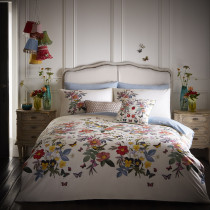 Clarke And Clarke Ava Duvet Set - White