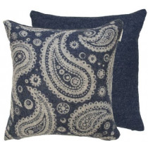 Ian Mankin Beverley 40 x 40cm Cushion - Dark Navy
