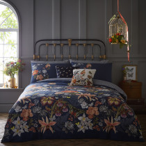 Clarke And Clarke Botanical Duvet Set - Navy