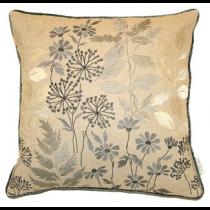 Botanical Pewter Cushion