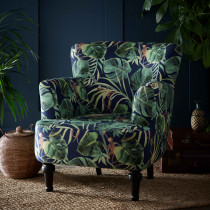 Clarke and Clarke Monkey Business Indigo Dalston Chair
