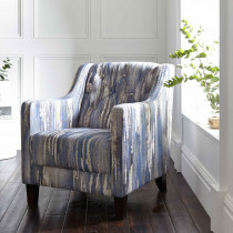 Clarke and Clarke Latour Indigo Hampton Chair