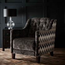 Clarke and Clarke Stucco Ebony Hampton Chair