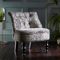Clarke and Clarke Leopold Pewter Odette Chair