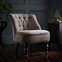 Clarke and Clarke Ocelot Ebony Odette Chair