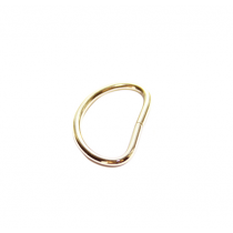 Brass Plated D-Rings - 25mm