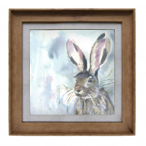 Voyage Maison Harriet Hare 46 X 46cm Framed Artwork - Honey