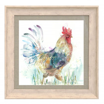 Voyage Maison Strutting Cockerel 46 X 46cm Framed Artwork - Birch
