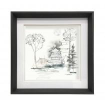 Voyage Maison Kyoto Gardens 47 X 47cm Framed Artwork - Ebony