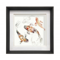 Voyage Maison Koi Carp 47 X 47cm Framed Artwork - Ebony