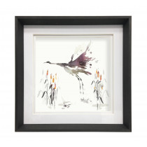 Voyage Maison Crane Tourmaline 47 X 47cm Framed Artwork - Ebony