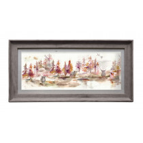 Voyage Maison Caledonian Forest Plum 71.8 X 36cm Framed Artwork - Stone