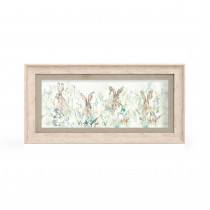 Voyage Maison Bunnies 71.8 X 36cm Framed Artwork - Birch